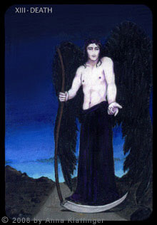 Death tarot card, from the Anna K Tarot by Anna Klaffinger