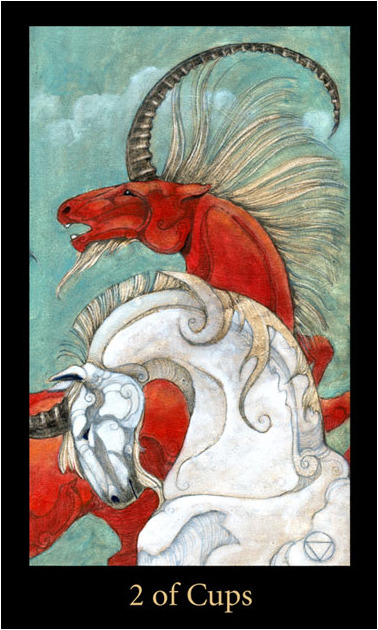 Synergy Two of Cups Mary-el Tarot