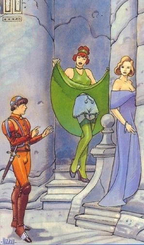 The Lovers tarot card - from the Secret Tarot