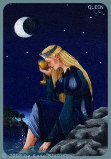 Queen of Cups tarot card Anna K Tarot