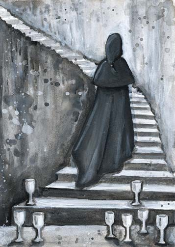 Eight of Cups tarot card - Erin Morgenstern