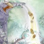 The Six of Pentacles tarot card Shadowscapes Tarot