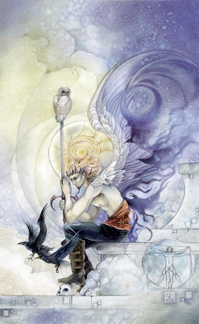 King of Swords, from the Shadowscapes Tarot by Stephanie Piu-Mun Law