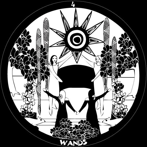 Four of Wands - Gorgs Tarot