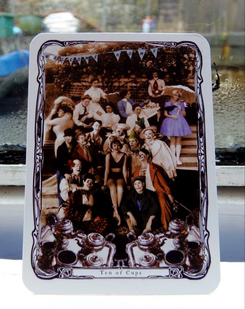 Ten of Cups, from the Steampunk Tarot by Charissa Drengsen