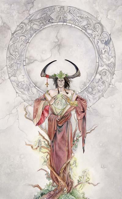 The Emperor tarot card shadowscapes