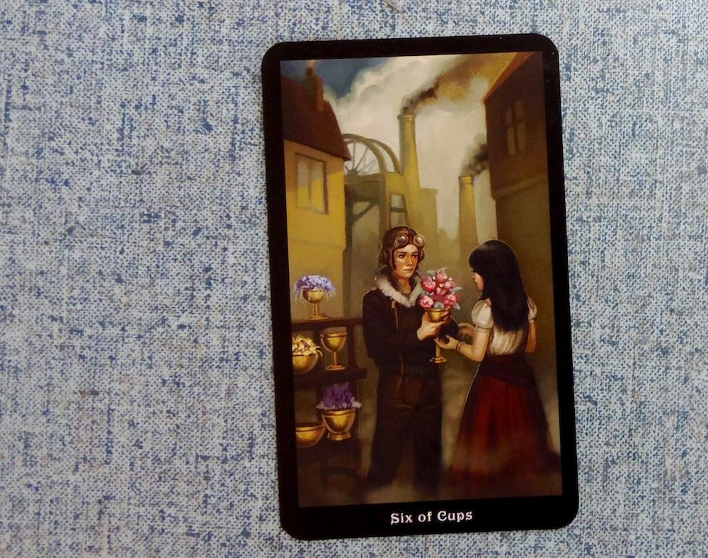 Steampunk Tarot Six of Cups