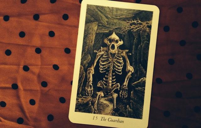 The guardian Wildwood Tarot card