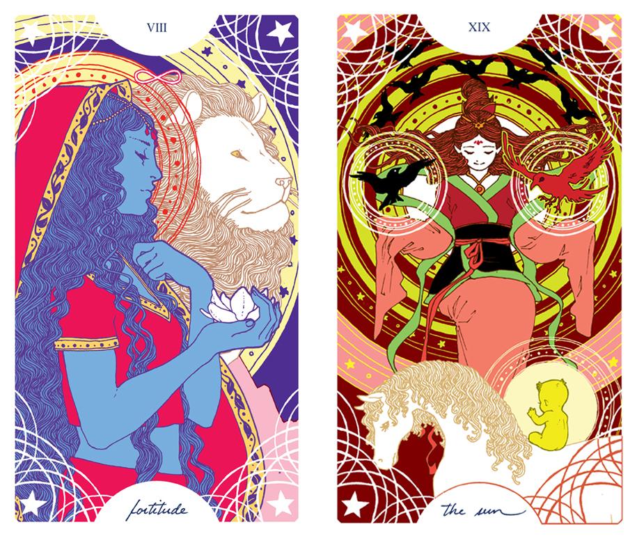 Trung-Nguyen-Fortitude-Sun-Tarot-Cards
