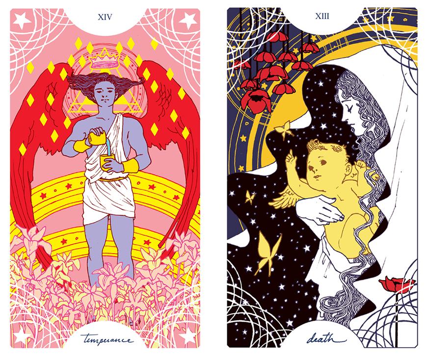 Trung-Nguyen-Temperance-Death-Tarot-Cards