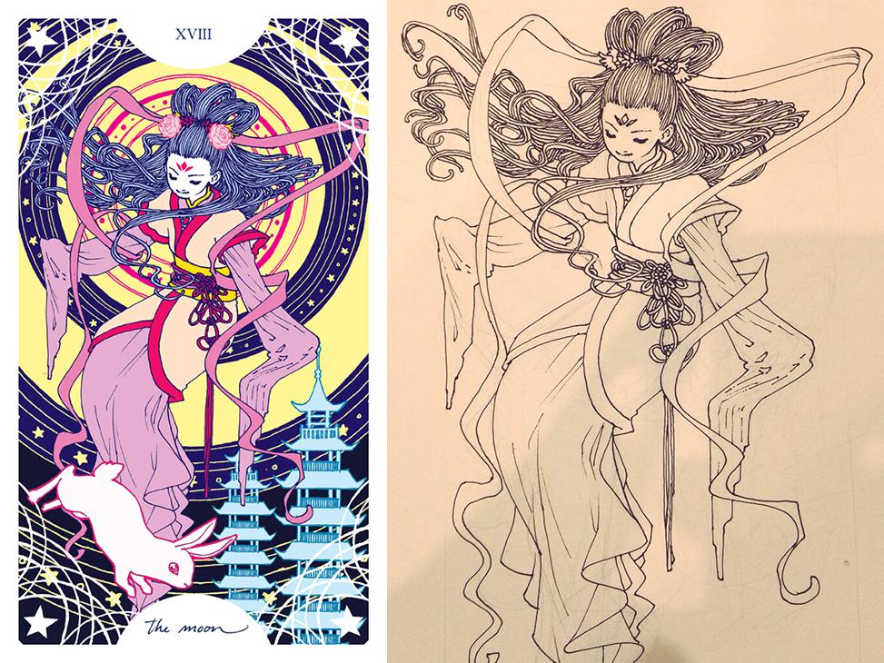 Trung-Nguyen-The-Moon-Tarot-Card