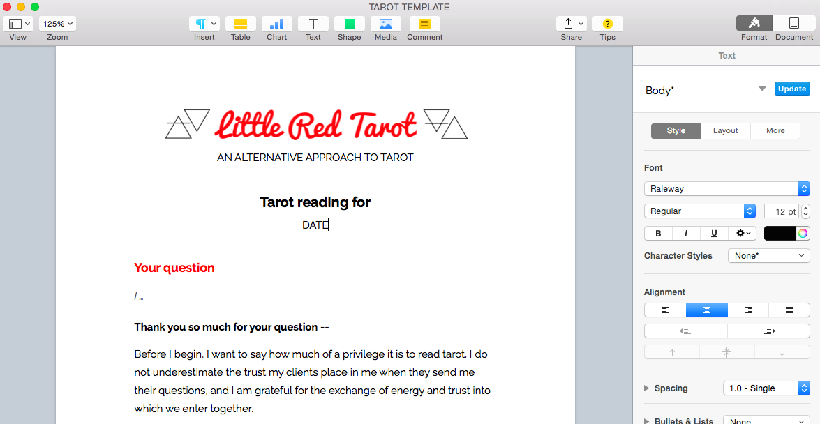 email-tarot-reading-template