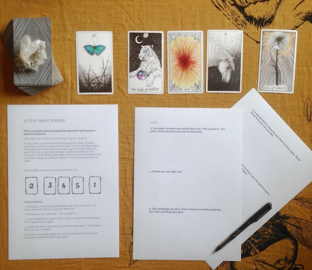 tarot spreads worksheets