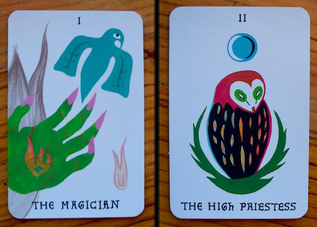 Magician and high priestess tarot
