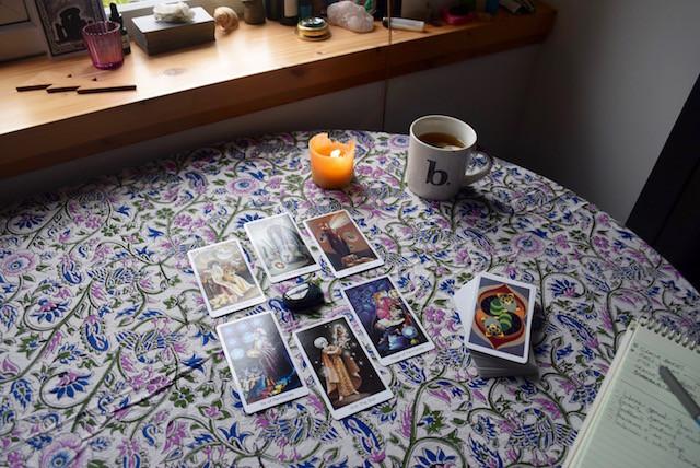 tarot deck interview spread