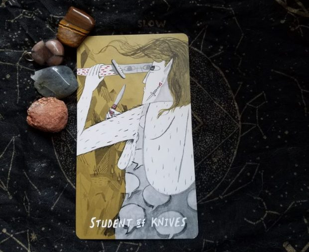 Queering the Tarot | Page of Swords | The Little Red Tarot Blog