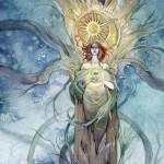 queen of pentacles tarot card